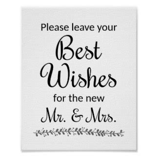 Wedding Wishes Poster by Wedding Wishes Gifts On Zazzle