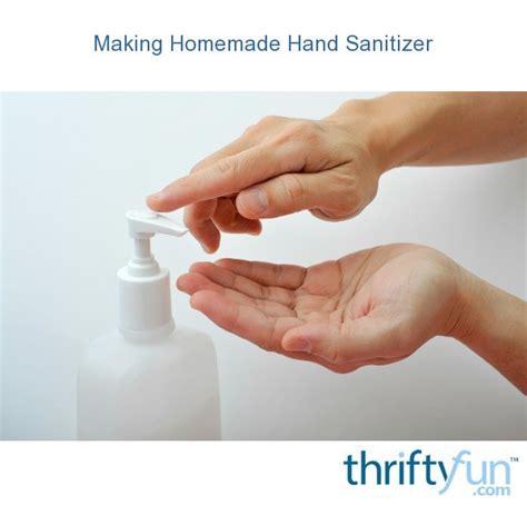 homemade hand sanitizer thriftyfun