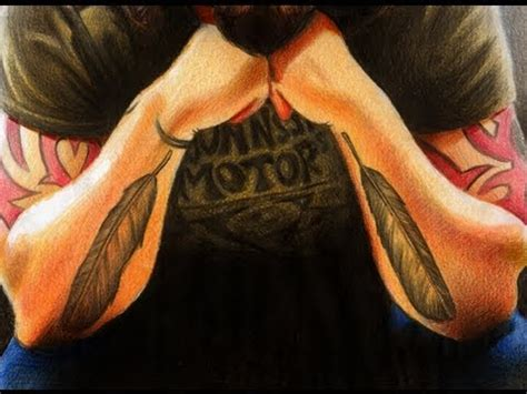 dave grohl tattoo updated mikeystube draws dave grohl with feather tattoos