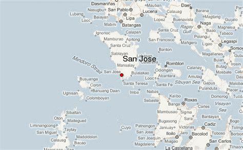 san jose philippines map san jose philippines location guide