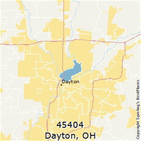 zip code map dayton ohio best places to live in dayton zip 45404 ohio