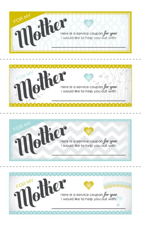 free printable love coupons for mom just sweet and simple mother s day ideas