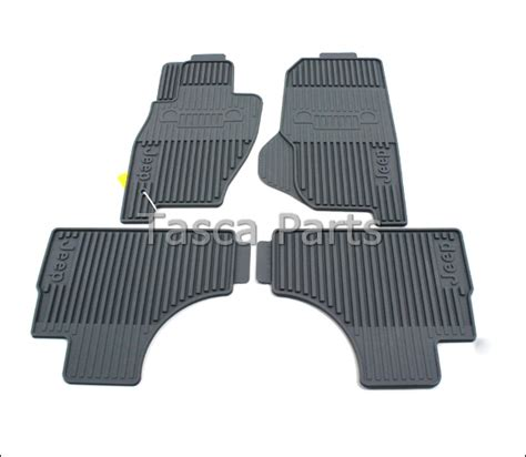 Floor Mats For Jeep Liberty by New Oem Mopar Gray All Weather Front Rear Floor Mats