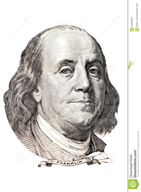 benjamin franklin portrait royalty free stock image