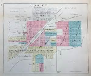 edwards county map 1887 map of kingsley edwards county kansas