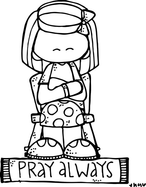 lds coloring pages praying melonheadz lds illustrating
