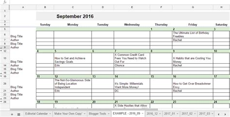 Editorial Calendar Docs Free 2017 Editorial Calendar In Spreadsheets