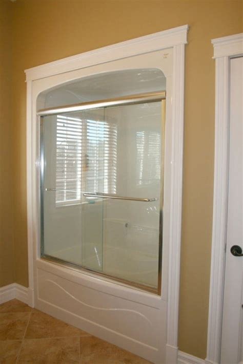 Tub Shower Enclosures One Piece Framed Home Ideas Shower Doors By Tj
