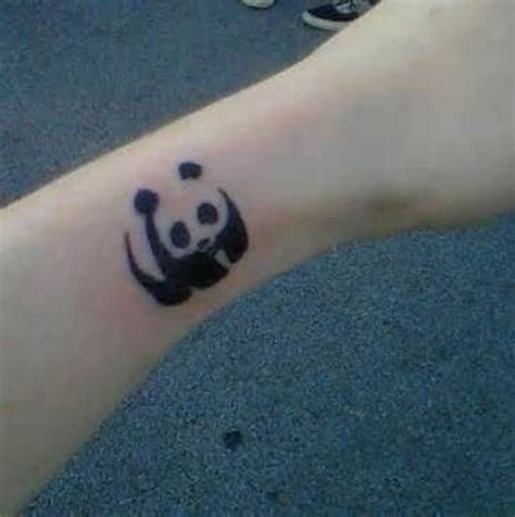 small panda tattoo 9 panda wrist tattoos