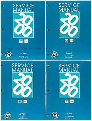 service and repair manuals 2001 chevrolet express 2500 electronic toll collection 2000 chevrolet express gmc savana van factory service manuals new original shop repair