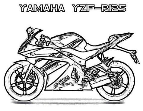 yamaha motorcycle coloring pages yamaha yzf r125 motorcycle coloring page print now