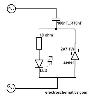 a 4000 ohm resistor is connected across 220v what current will flow simple led circuit