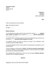 Exemple De Lettre Non Renouvellement De Contrat Mod 232 Le De Lettre De R 233 Siliation D Un Abonnement Canalsat Avec Non Reconduction Au Terme Du