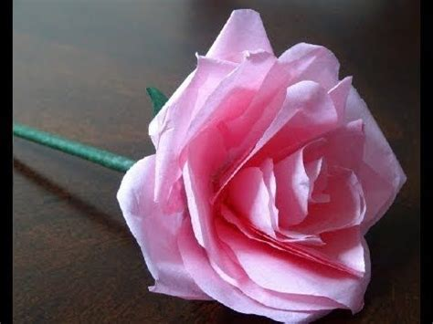 Roses Out Of Paper - how to make a easy tissue paper flower crafts