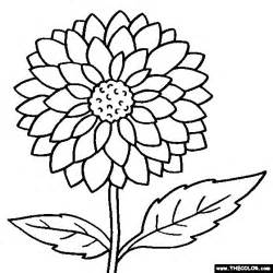 color flower coloring pages flower coloring pages color flowers
