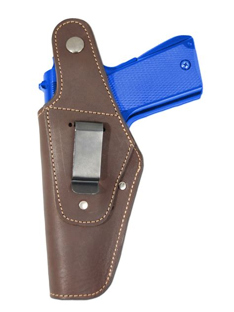 Glock Gun Clip Brown new barsony brown leather belt owb holster for fn glock