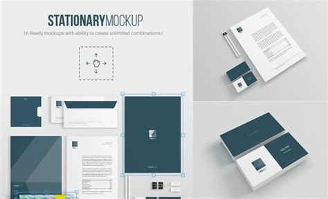 template mockup 30 recognizable free psd stationery mockups free psd