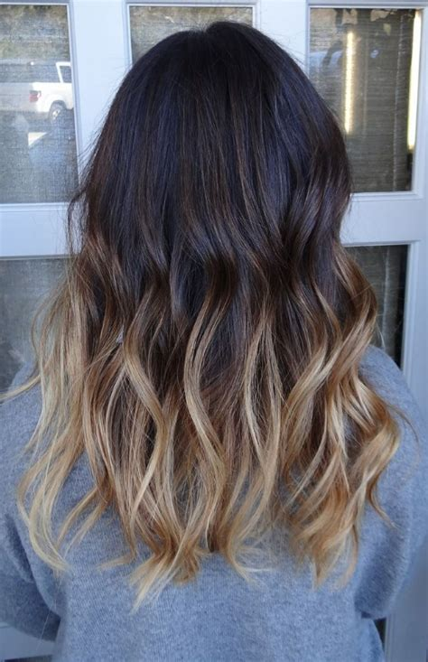 ombre bunette blonde brunette on bottom 40 hottest hair color ideas for 2018 brown red blonde