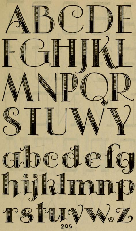 decorative alphabet studio handbook lettering