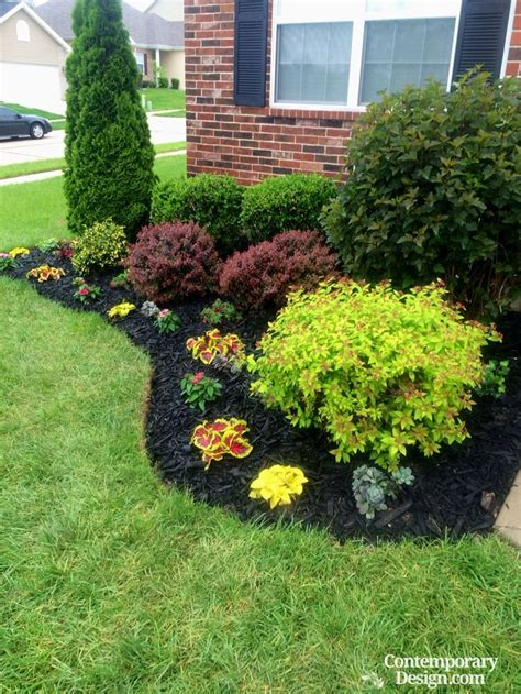 gorgeous black mulch landscaping ideas