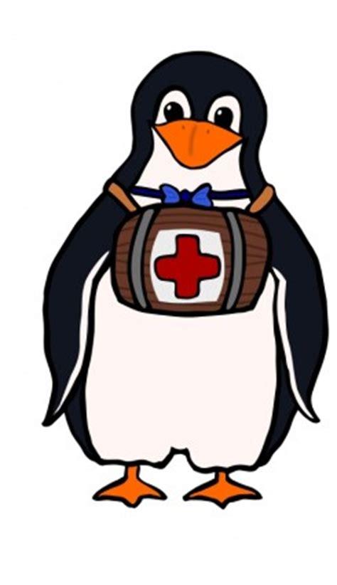 Dasi Salib st bernard s penguin vektor clip vektor gratis