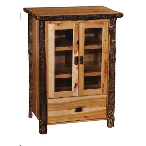 Rustic Alder Kitchen Cabinets Hickory Media Cabinet