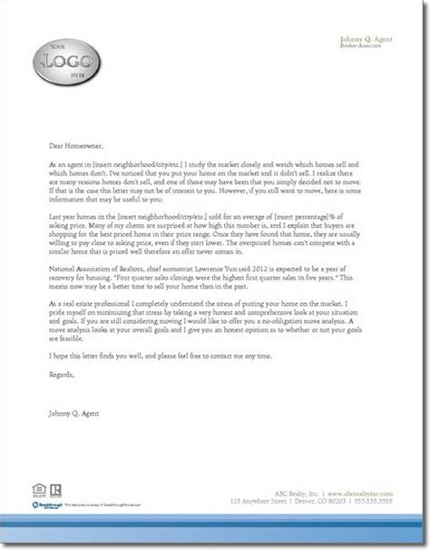 expired listing letter template real estate marketing