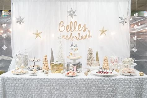 winter onederland birthday decorations kara s ideas silver and gold winter onederland