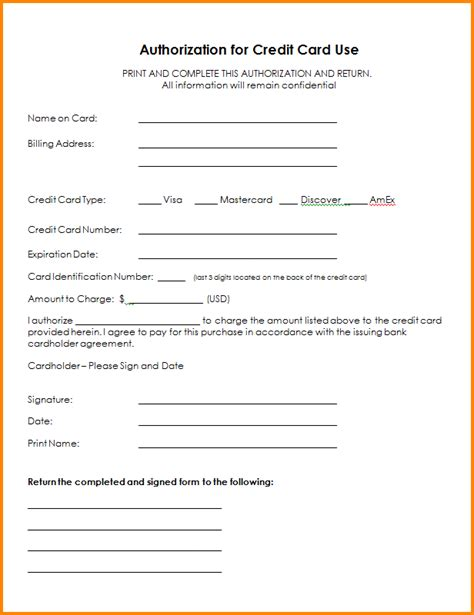 6 authorization form authorization letter