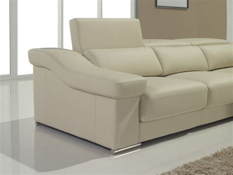 sectional bed t136 modern brown leather sofa w pull out sofa bed