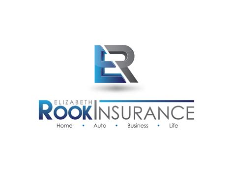 r e logo design serious upmarket logo design for elizabeth rook insurance llc by icreativecreations design
