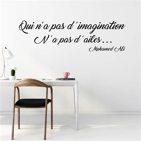 stickers pour bureau sticker citation l imagination mohamed ali stickers