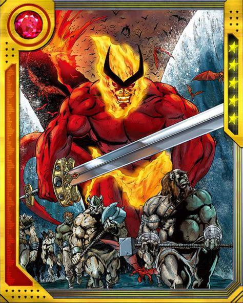 printable heroes fire giant lord of muspelheim surtur marvel war of heroes wiki