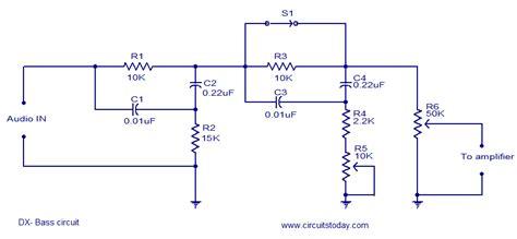 bass treble circuit diagram electronics friendship ม มอ เลคทรอน คส สำหร บท กคน