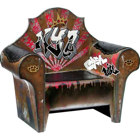 Graffiti Seat: The Throne by Ted Nemeth