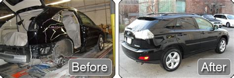 wrecked car before and after auto body repair before after photos tackett s body
