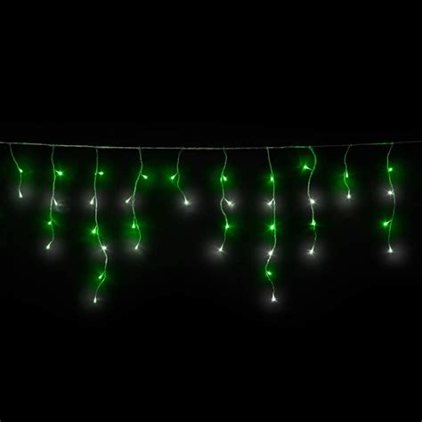 Home Interiors Candles green white icicles led christmas lights icicle lights