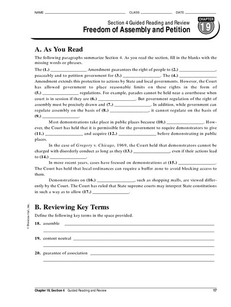 chapter 12 section 1 guided reading 14 best images of american government answer key