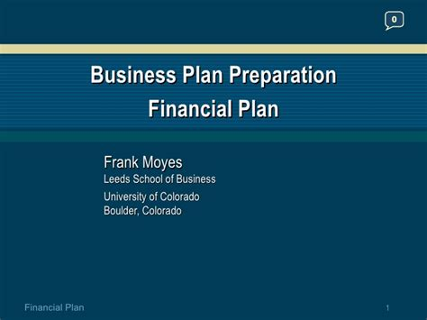 Business Plan For Mba Students Ppt by Financial Plan Business Plan Preparation