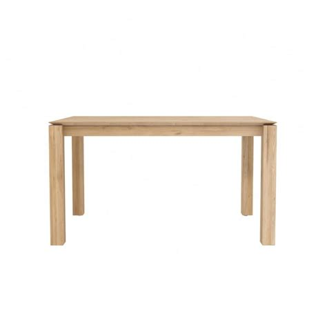 oak slice extendable dining table ethnicraft modern