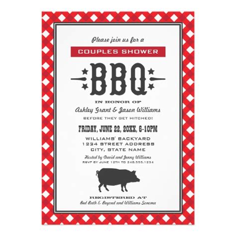 Wedding Invitations Bbq Theme wedding s shower backyard bbq theme 5x7 paper