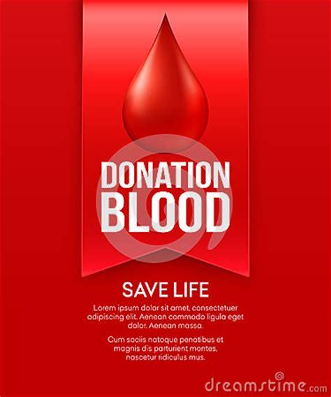 poster design blood donation donate blood poster design vector illustration stock