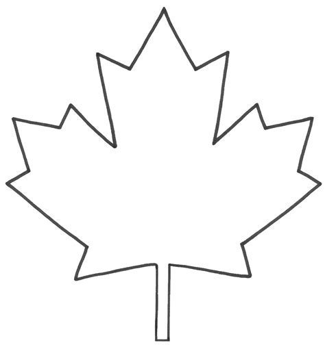 maple leaf templates clipart best