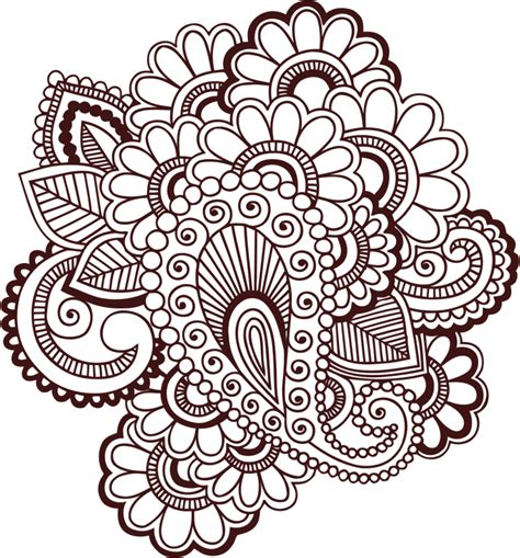 henna tattoo wall art clipart henna