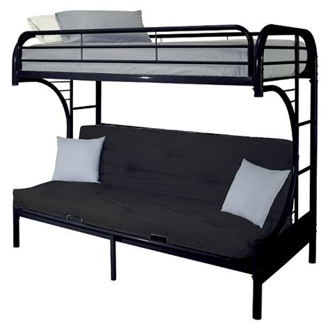 Black Futon Bunk Bed Eclipse Futon Bunk Bed Black Xl Acme Target