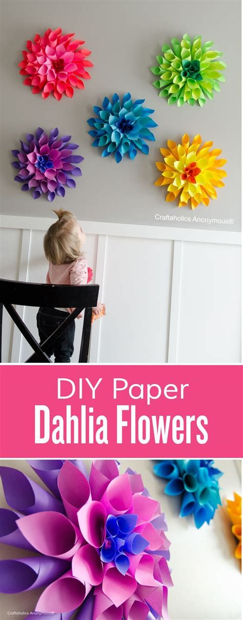 Learn How To Make Paper Flowers - 25 best ideas about diy wall flowers on paper