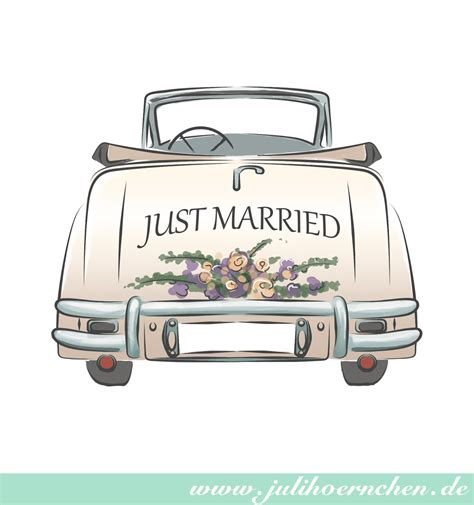Just Married Auto Karte by Malvorlagen Auto Just Married Die Beste Idee Zum