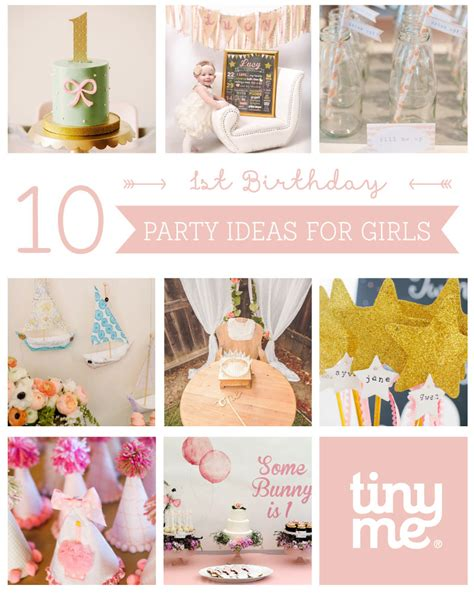 birthday themes ideas for girl 10 1st birthday party ideas for girls tinyme blog