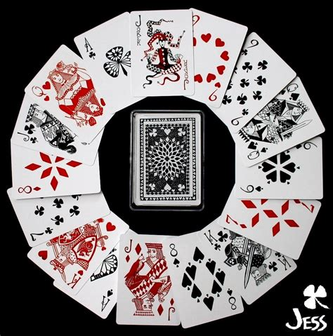 lucky deck playing cards  jessica siemens playing cards art collecting