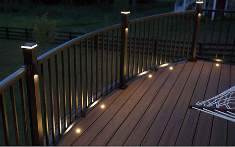 Outdoor Rail Lighting Trex Signature Railing Great For Outdoor Deck Railing Trex